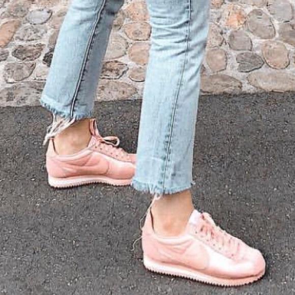 Nike Shoes | Nike Cortez Satin Pink